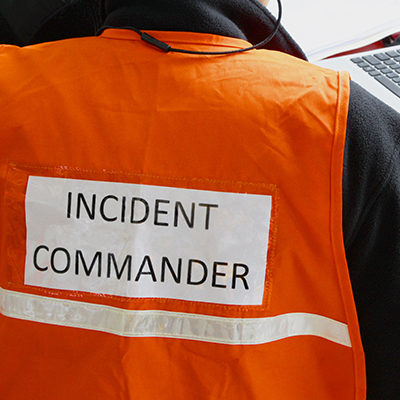 Incident Commander working remotely in a Command Center
